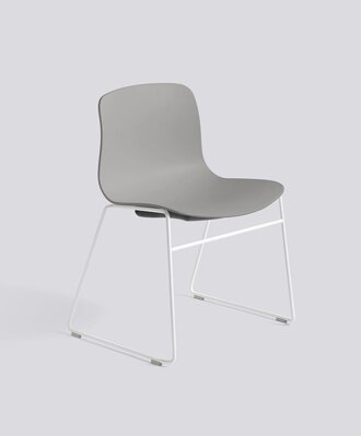 Židle AAC 08, sedák Concrete Grey, noha White Powder Coated Steel