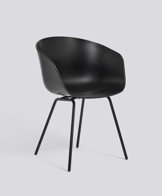 Židle AAC 26 - Black Powder Coated Steel / Black Seat