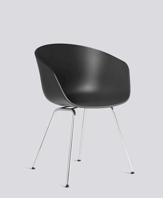 Židle AAC 26 - Chromed Steel / Soft Black Seat