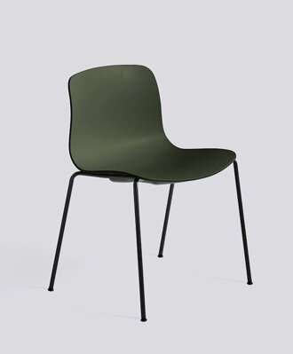 Židle AAC 16, sedák Green, noha Black Powder Coated Steel