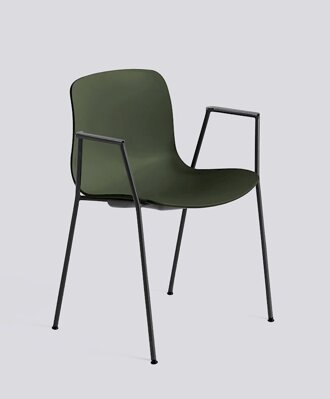 Židle AAC 18, sedák Green, noha Black Powder Coated Steel
