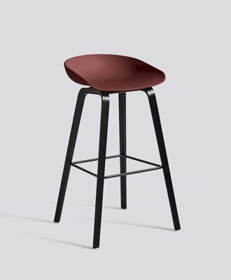 Barová židle About a Stool AAS 32 Black Stained Oak veneer - Brick seat