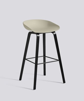 Barová židle About a Stool AAS 32 Black Stained Oak veneer - Pastel Green seat
