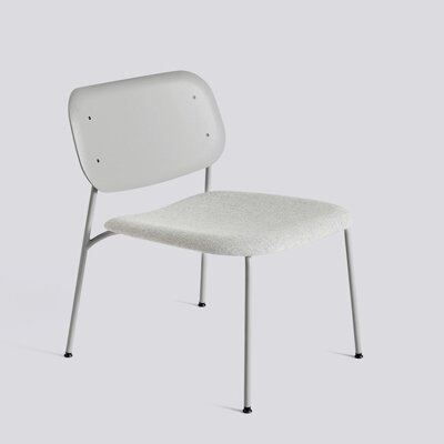 Křeslo Soft Edge 10 Lounge / Soft Grey Powder Coated Steel / Soft Grey Stained / Hallingdal 116 Seat Upholstery