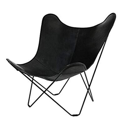 Křeslo Mariposa Leather - Black, Butterfly Chair