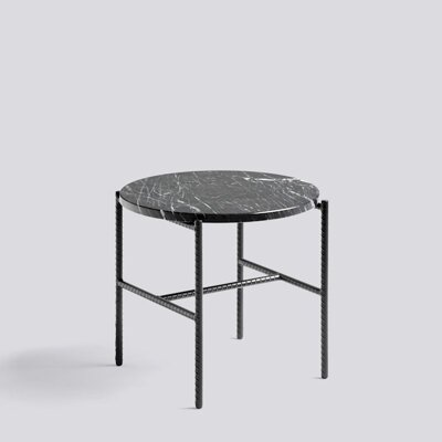 REBAR SIDE TABLE MARBLE