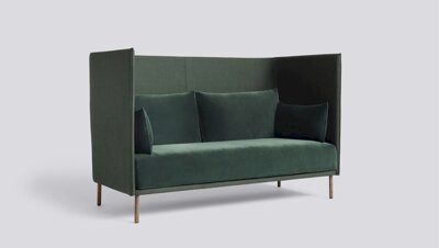Sedačka Silhouette Sofa High Backed 2 Seater Duo / látka Canvas 996 korpus + Lola Dark Green polštáře