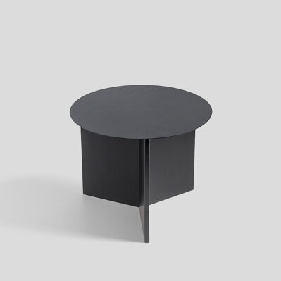 Stolek Slit table Round black