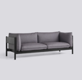 Sedačka Arbour 3 Seater / látka Remix 266 / nohy Black-Water Based Lacquered Solid Beech