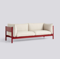 Sedačka Arbour 3 Seater / látka Hallingdal 220 / nohy Wine Red-Water Based Lacquered Solid Beech