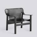 Křeslo BERNARD / DEEP BLACK STAINED SOLID OAK / BLACK LEATHER