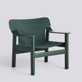 Křeslo BERNARD / HUNTER GREEN PAINTED SOLID BEECH / GREEN CANVAS