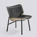 Křeslo Dapper / Black powder coated steel / Matt Silk SIL0842 Leather / Front upholstery