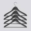 Ramínka Soft Coat Hanger / Slim Black + bar