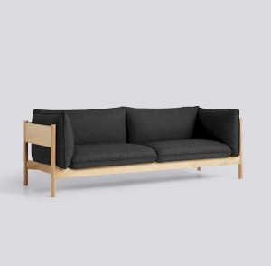 Sedačka Arbour 3 Seater / látka Re-Wool 198 / nohy Oiled Waxed Solid Oak
