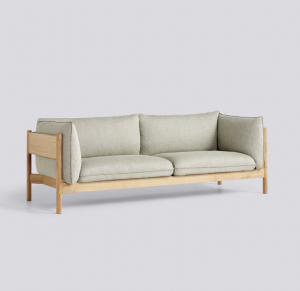 Sedačka Arbour 3 Seater / látka Re-Wool 408 / nohy Oiled Waxed Solid Oak