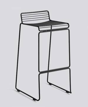 Barová židle Hee Bar Stool High, Black