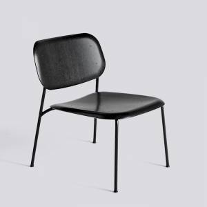 Křeslo Soft Edge 10 Lounge / Black Powder Coated Steel / Black Stained
