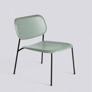 Křeslo Soft Edge 10 Lounge / Black Powder Coated Steel / Dusty Green