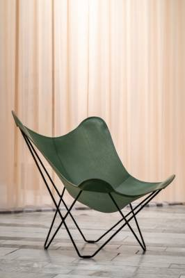 Křeslo Mariposa Pampa Leather Green Butterfly Chair / motýlí křeslo