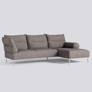 Sedačka Pandarine 3 Seater Chaise Longue Mixed Armrests / látka Swarm Multi Colour / nohy Chromed Steel