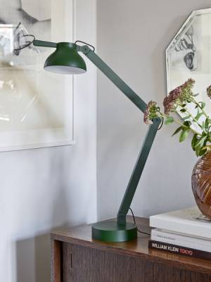 Stolní lampa Pc Double Arm W. TAble Base, Leaf  Green