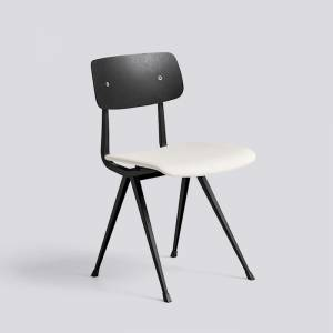 Židle Result Chair Upholstery, Black Powder Coated Steel, sedák čalouněný látkou Steelcut trio 220