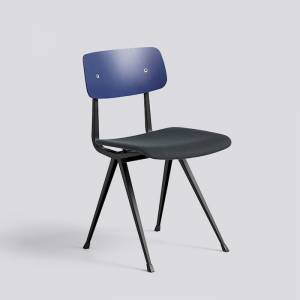 Židle Result Chair Upholstery, Black Powder Coated Steel, sedák čalouněný látkou Steelcut trio 796