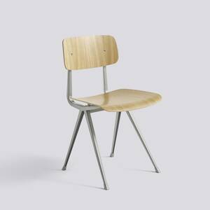 Židle Result Chair, Beige Powder Coated Steel - Clear