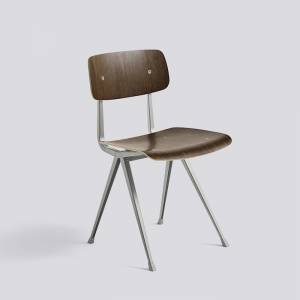 Židle Result Chair, Beige Powder Coated Steel - Smoked
