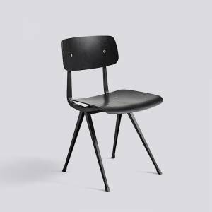 Židle Result Chair, Black Powder Coated Steel - Black