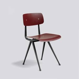 Židle Result Chair, Black Powder Coated Steel - Dark Brick