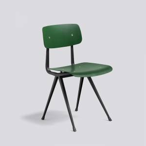 Židle Result Chair, Black Powder Coated Steel - Forest Green