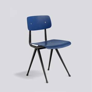 Židle Result Chair, Black Powder Coated Steel - Dark Blue