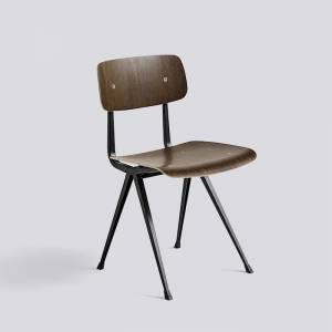 Židle Result Chair, Black Powder Coated Steel - Smoked