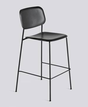 Barová židle Soft Edge P10 Bar Stool / High Black Powder Coated Steel / Black
