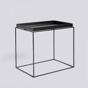 Stolek Tray Table, Side Table L, Black